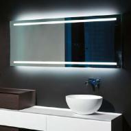 antoniolupi SPIO175W rechteckiger Spiegel mit LED-Beleuchtung, Höhe 75 cm