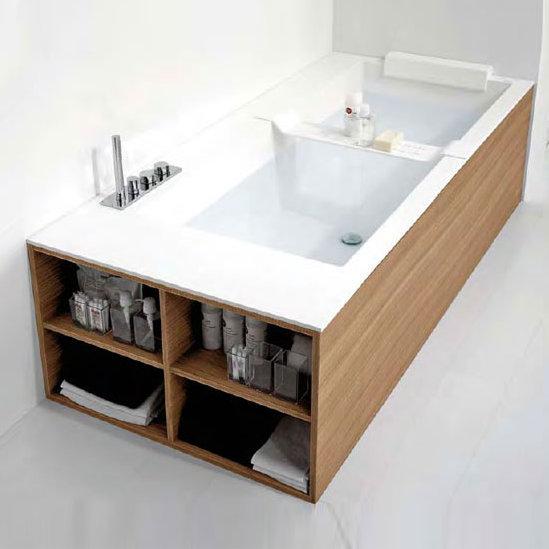 antoniolupi biblio badewanne ablage links 4 seitige verblendung rovere naturale biblio44sx b. Black Bedroom Furniture Sets. Home Design Ideas