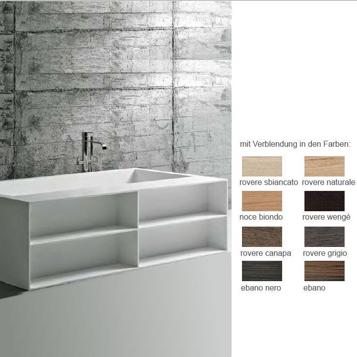 antoniolupi biblio54 badewanne ablage 4seitig verblendet rovere naturale biblio54 naturale. Black Bedroom Furniture Sets. Home Design Ideas