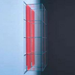Boffi GLASS Schrank mit 2 offenen Fächern weiß