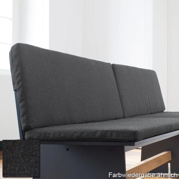 conmoto tension sitzkissen und r ckenkissen f r tension bank mit r ckenlehne anthrazit. Black Bedroom Furniture Sets. Home Design Ideas