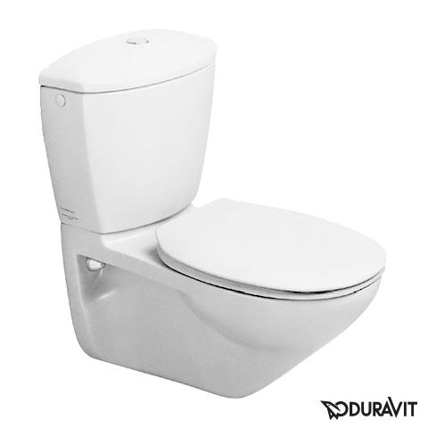 Duravit duraplus wand wc practicacascade 0195090000 - Wand wc mit aufgesetztem spulkasten ...