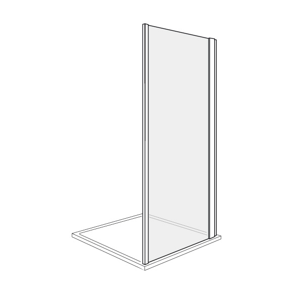 duscholux bella vita nova seitenteil platinum silber esg mit cleartec 339205022751062. Black Bedroom Furniture Sets. Home Design Ideas