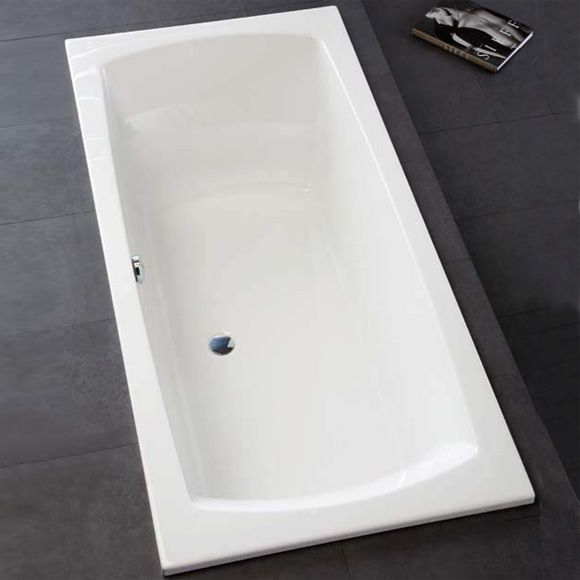 hoesch largo rectangular bath white reuter onlineshop. Black Bedroom Furniture Sets. Home Design Ideas