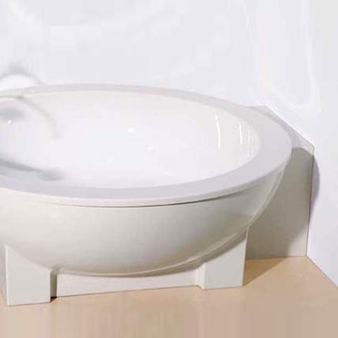 hoesch michael graves dreamscape badewanne rund freistehend mit adapter weiss ohne bohrung. Black Bedroom Furniture Sets. Home Design Ideas