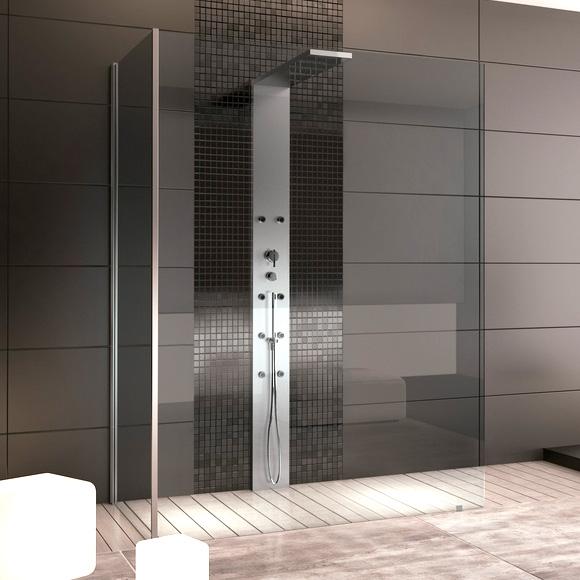 hoesch thasos duschwand mit duschs ule vorwandversion. Black Bedroom Furniture Sets. Home Design Ideas