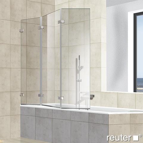 reuter kollektion premium rahmenlos badewannenaufsatz 3 teilig 1001728l reuter onlineshop. Black Bedroom Furniture Sets. Home Design Ideas