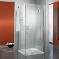 HSK Premium Softcube Drehtür für Seitenwand klar hell Edelglas / chrom optik, WEM 88,5-90,5 cm