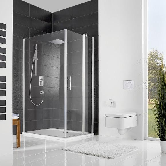 hsk favorit nova dreht r f r seitenwand mit festteil klar hell silber matt wem 138 5 140 5. Black Bedroom Furniture Sets. Home Design Ideas