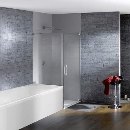 h ppe studio paris schwingt r mit kurzer seitenwand klarglas anti plaque chrom. Black Bedroom Furniture Sets. Home Design Ideas