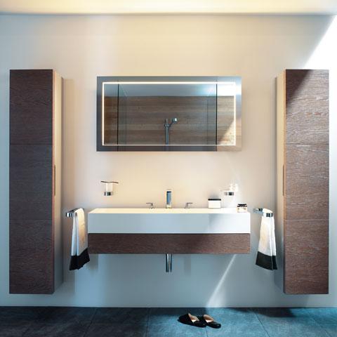 keuco edition 300 hochschrank mit 1 t r und 1 w schekorb. Black Bedroom Furniture Sets. Home Design Ideas