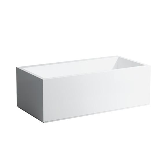 kartell by laufen rechteck badewanne mit l sch rze led. Black Bedroom Furniture Sets. Home Design Ideas