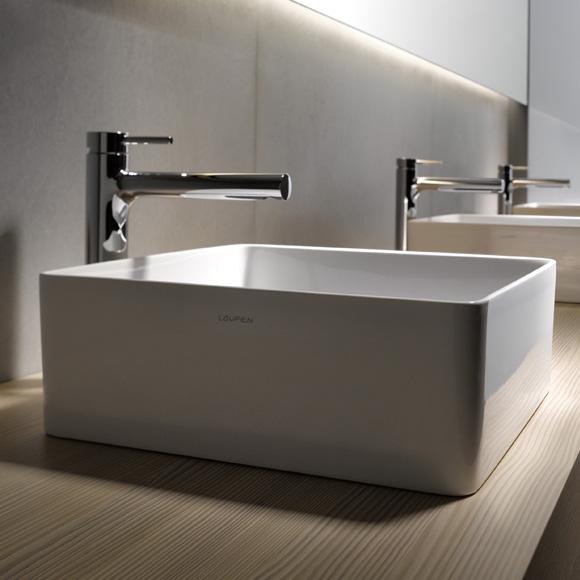 laufen living square waschtisch b 60 t 34 cm wei mit clean coat 8114344001121 reuter. Black Bedroom Furniture Sets. Home Design Ideas