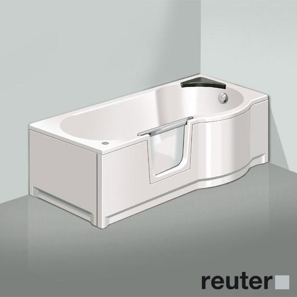 badewannen mit duschzone und tur m bel ideen und home. Black Bedroom Furniture Sets. Home Design Ideas