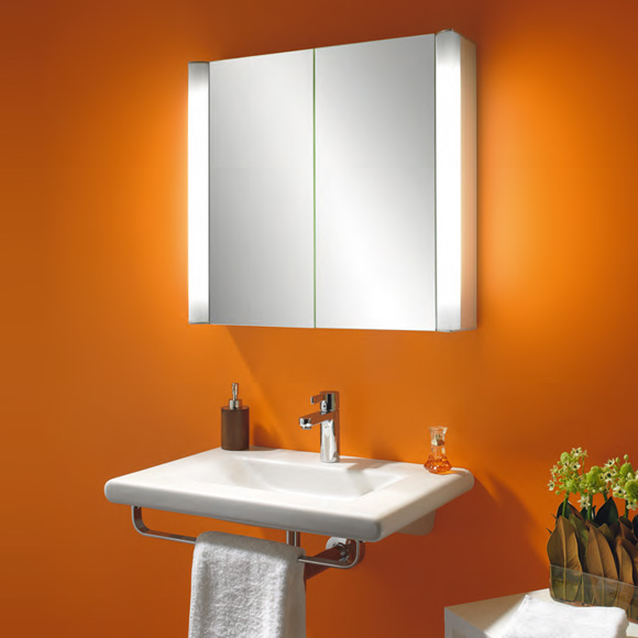 schneider moanaline spiegelschrank mit 2 t ren beleuchtung au en reuter. Black Bedroom Furniture Sets. Home Design Ideas