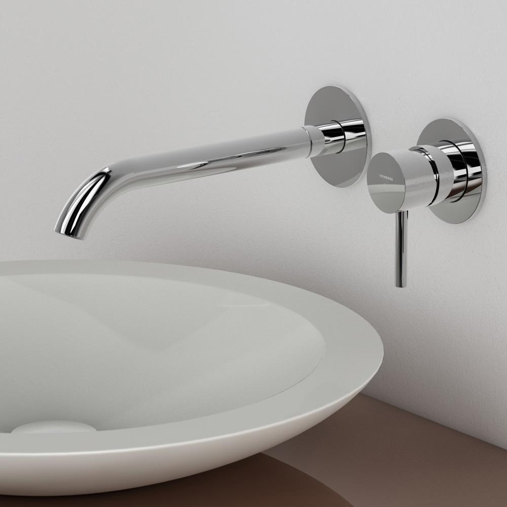 steinberg serie 100 waschtisch einhebelmischbatterie zur wandmontage ausladung 245 mm 100. Black Bedroom Furniture Sets. Home Design Ideas