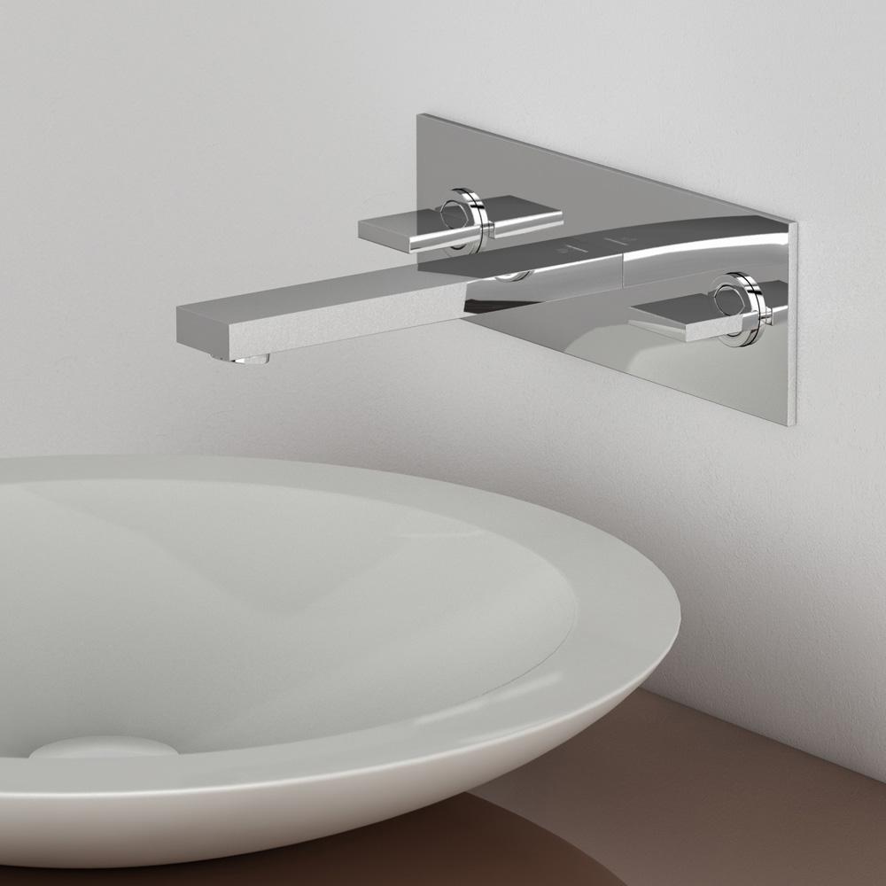 steinberg serie 160 3 loch waschtisch armatur zur wandmontage ausladung 200 mm. Black Bedroom Furniture Sets. Home Design Ideas