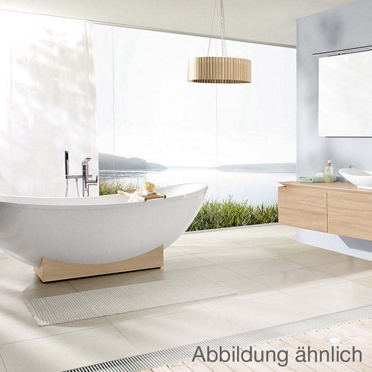 villeroy boch my nature duo freistehende badewanne star white holzkonsole kastanie. Black Bedroom Furniture Sets. Home Design Ideas