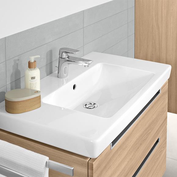 villeroy boch subway 2 0 waschtisch f r montage mit m beln konsole wei mit 1 hahnloch. Black Bedroom Furniture Sets. Home Design Ideas