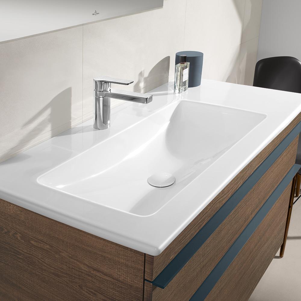 villeroy boch venticello schrankwaschtisch wei mit 1 hahnloch durchgestochen 4134l201. Black Bedroom Furniture Sets. Home Design Ideas