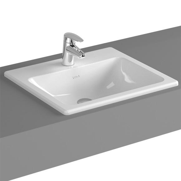 vitra s20 einbauwaschtisch mit 1 hahnloch 5464b003 0001. Black Bedroom Furniture Sets. Home Design Ideas